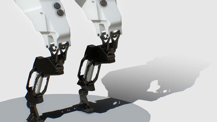 Mecha leg (free) 3D Model