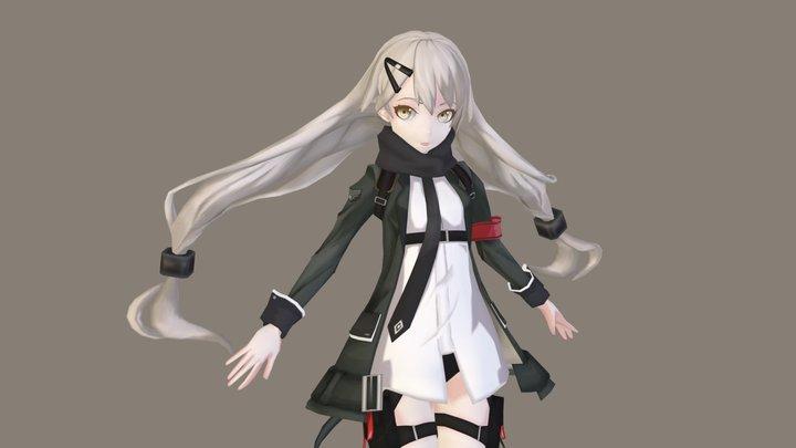 Gr MG4 - Girls Frontline 3D Model