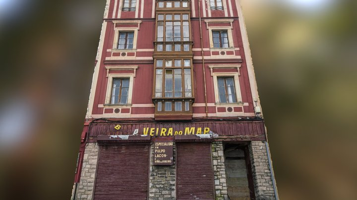 Old building with closed restaurant scan 3D Model
