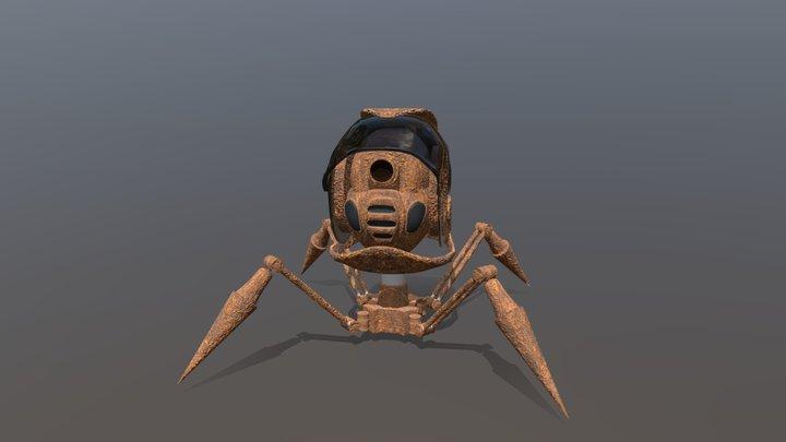 Rusty Spy Robot 3D Model