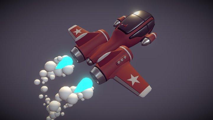 Retro SpaceShip_DRAFT 3D Model