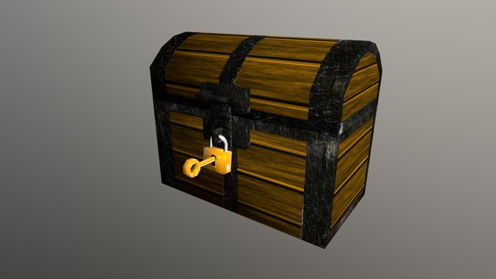 Treasure Chest | Low Poly - For Game 3D Model