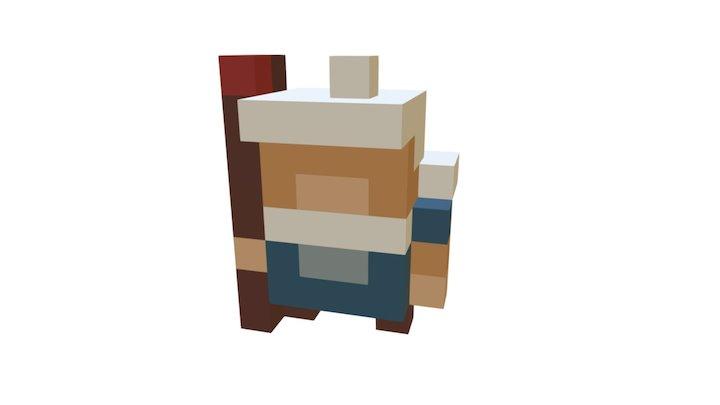 8 Bit Wizard 3D Model