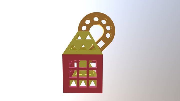 Tinkercad coloured object test 3D Model