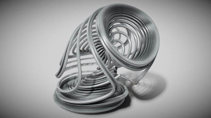 Strange Attractor : 3-Scroll Unified Chaotic 1 3D Model