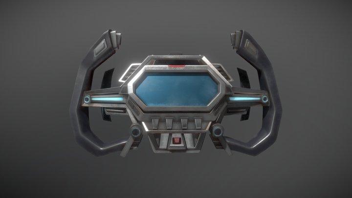 racing steering wheel concept 3D Model