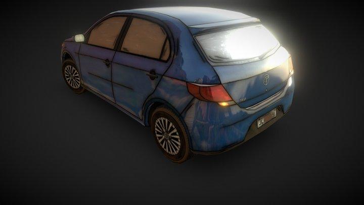 Car - Volkswagem Gol 3D Model