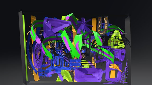 Abstract Painting 3D Model
