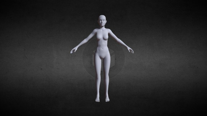 Cartoon Body 3D Model