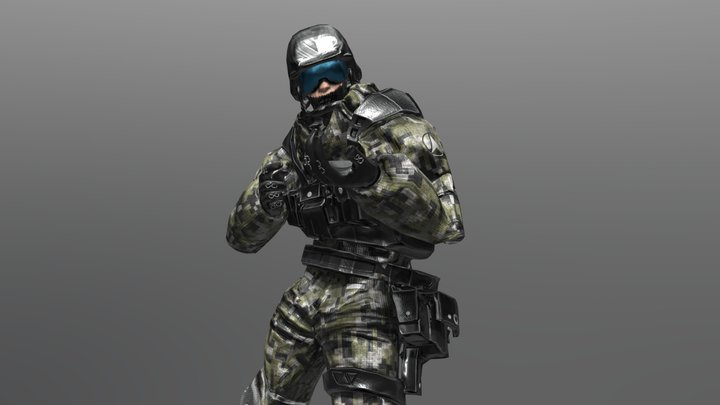 Army Soldier Animation 3D Model