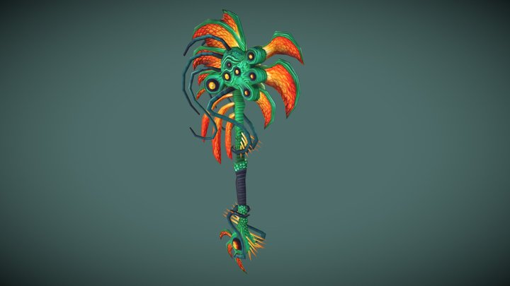 WeaponCraft Naga Axe 3D Model