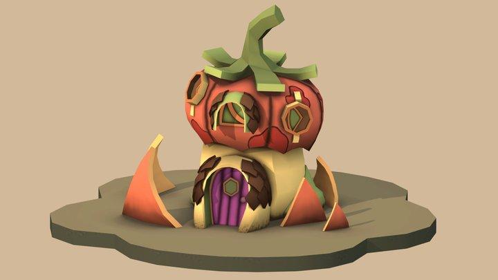 Pumpkin House 3D Model
