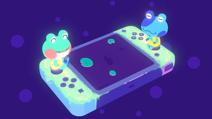 Animal Crossing Switch 3D Model