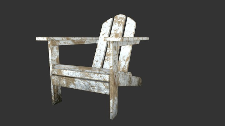 Old chair for garden 3D Model