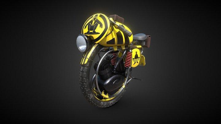Slav King MonoBike 3D Model