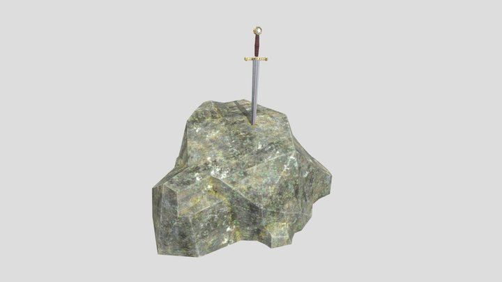 The Sword in the Stone 3D Model