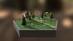 Hex_Forest Scene 3D Model