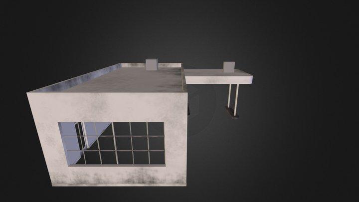 Gas Station 004 3D Model