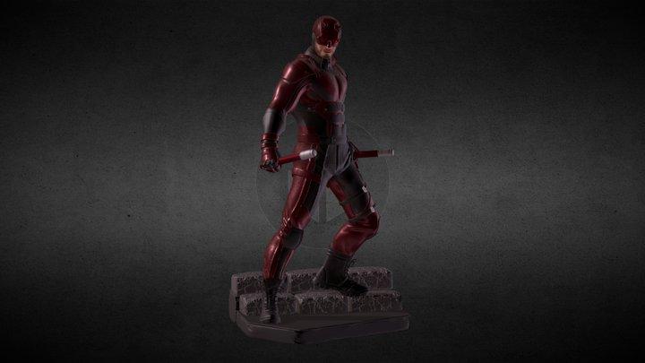 Daredevil (netflix) statue 3D Model