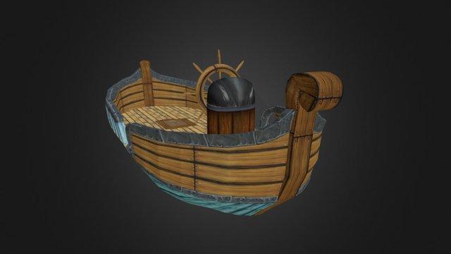 Floating boat 3D Model