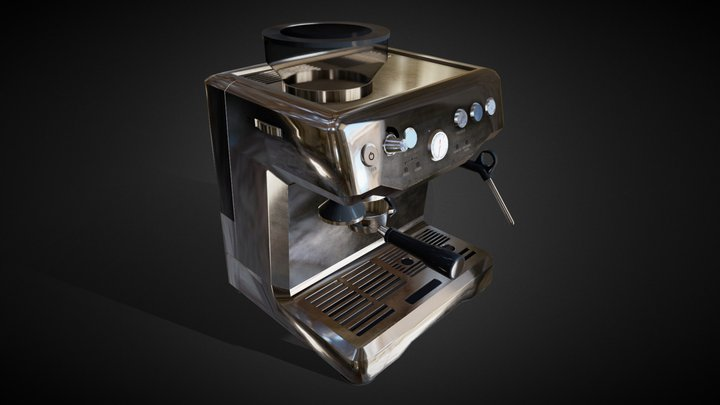 Coffee Machine - Low Poly 3D Model
