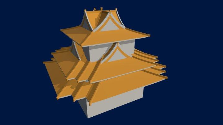 Palace Corner Tower 3D Model