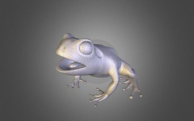 Frog [Smoothed] 3D Model