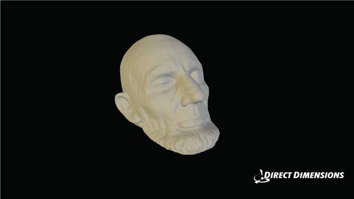 Abe Lincoln death mask 3D Model