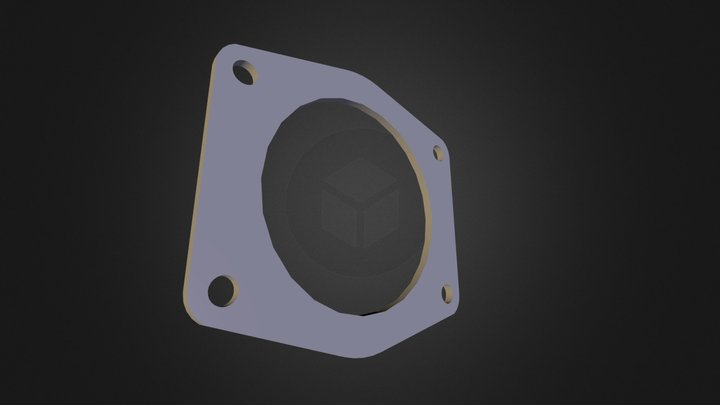 THROTTLE BODY PLATE - 3MM THICK.fbx 3D Model