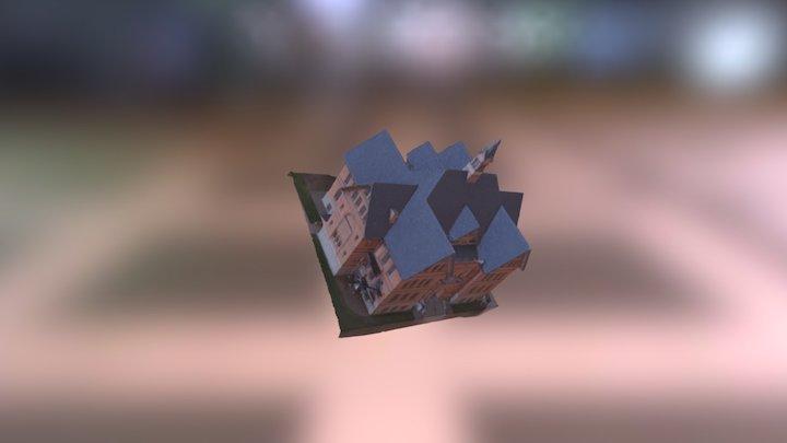 Montana Hall High Quality 3D Model