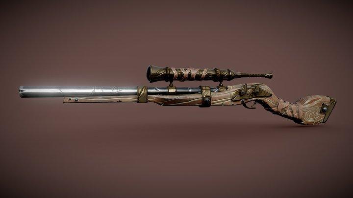 Pirate Rifle (Stylized Rifle) 3D Model