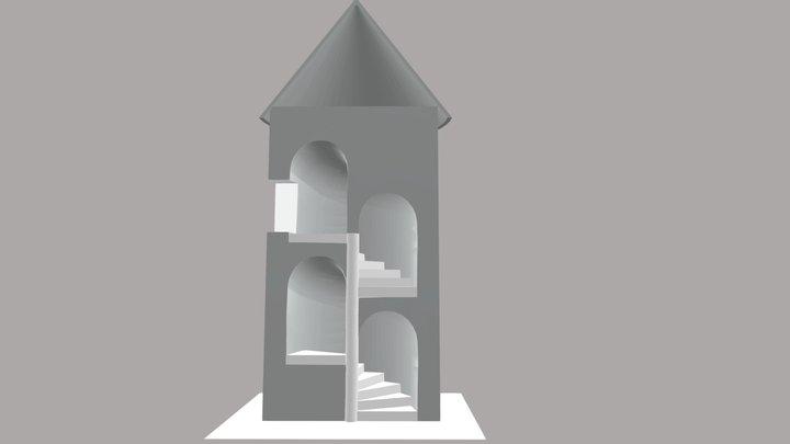 Tourelle d'escalier chapelle 3D Model