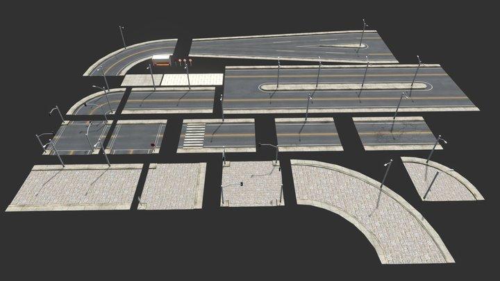 Road Pack Extended 3D Model