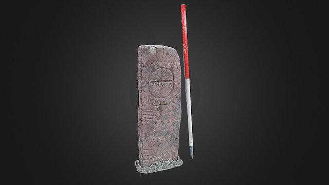 Rathduff I ogham stone (textured) 3D Model