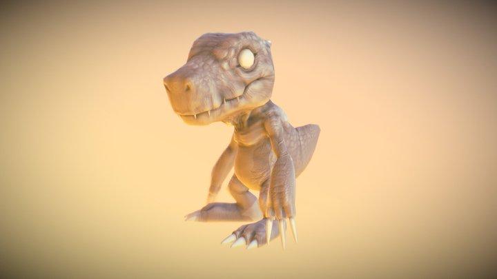 Agumon WIP 3D Model