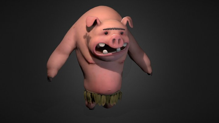 Pig - Walk cycle - Don`t Starve fanart 3D Model