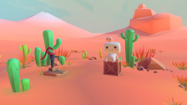 Toon Marshmallow Brothers (Vertex Color) 3D Model