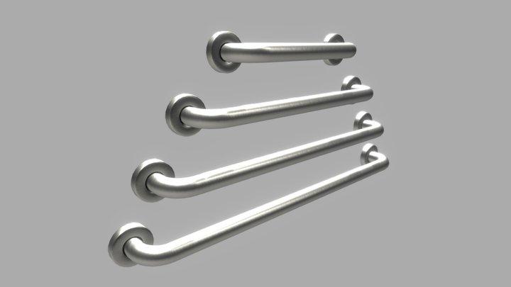 HELVEX - Straight satin safety bars 3D Model