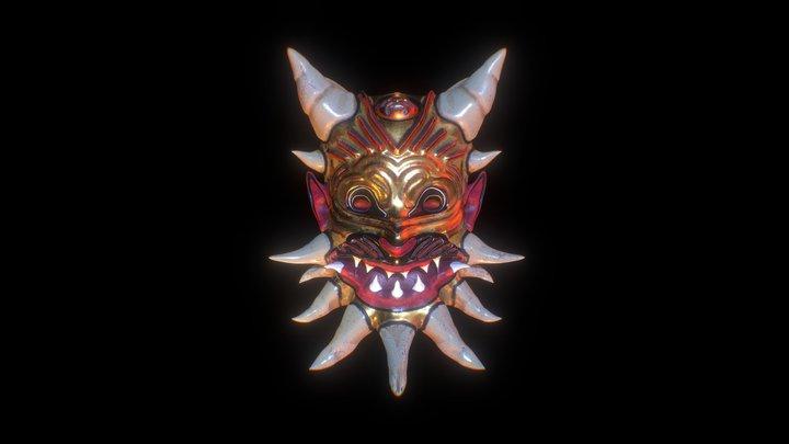 Demonic Bastet Mask 3D Model