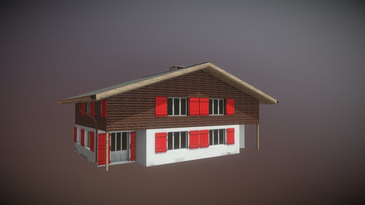 Swiss Alpen House 3D Model
