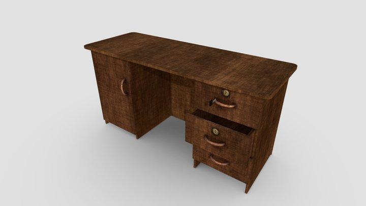 Old Desk 3D Model
