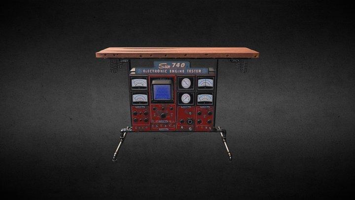 Sun740 Steampunk Table Lamp 3D model 3D Model