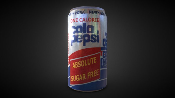 Drink Can 2 3D Model