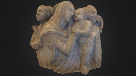 The Virgin Mary with Child and Saints 3D Model