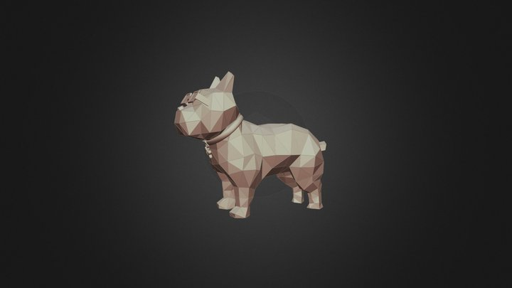 Dog Polygon Bull 3D Model