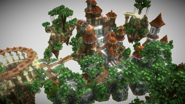 Loyal Sanctuary - Detailed Skyblock Spawn 3D Model