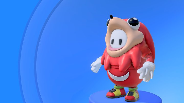 Fall Guy Ugandan Knuckles 3D Model