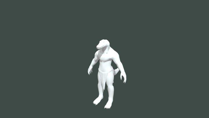 Crokodan untextured (lowres) 3D Model