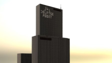 Delftse Poort/Nationale Nederlanden in Minecraft 3D Model