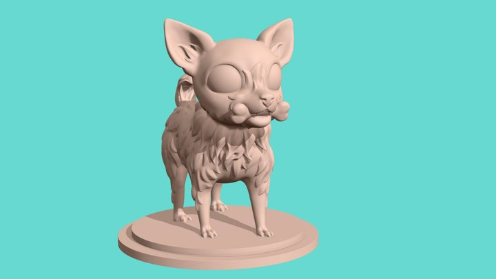 Cute dog for 3d printing 3D Model